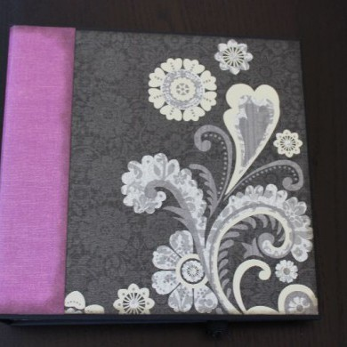 Álbum de Scrapbooking para Boda Black Currant