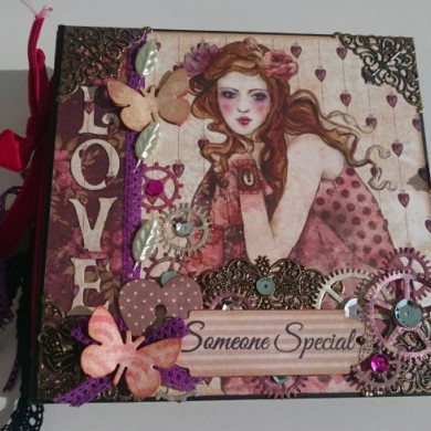 Mini Album de Scrapbooking Willow