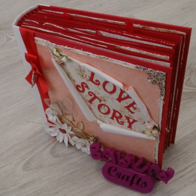 ALBUM DE SCRAPBOOKING LOVE STORY